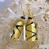 GOLD MURANO GLASS EARRINGS