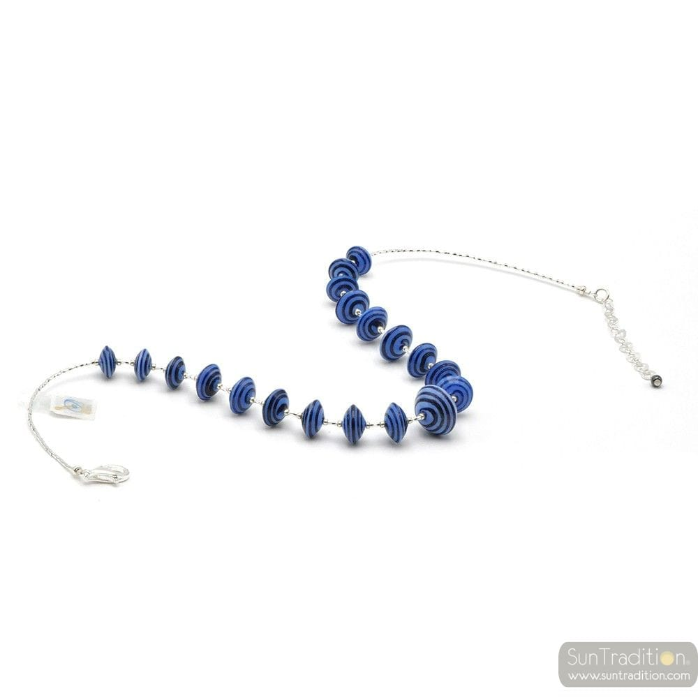 BLUE MURANO GLASS NECKLACE VENICE