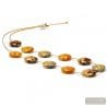 SUNSET AMS - GOLD ORANGE MULTICOLOR NECKLACE MURANO GLASS