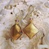 gold murano glass jewelry earrings