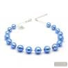 BALL NAVY BLUE - BLUE MURANO GLASS NECKLACE GENUINE MURANO GLASS OF VENICE