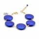 FRANCY SATIN BLUE - BLUE MURANO GLASS BRACELET OF VENICE