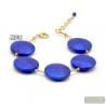 FRANCY BLUE SATIN - ARMBAND MIT BLAUEN MURANO GLAS VENEDIG