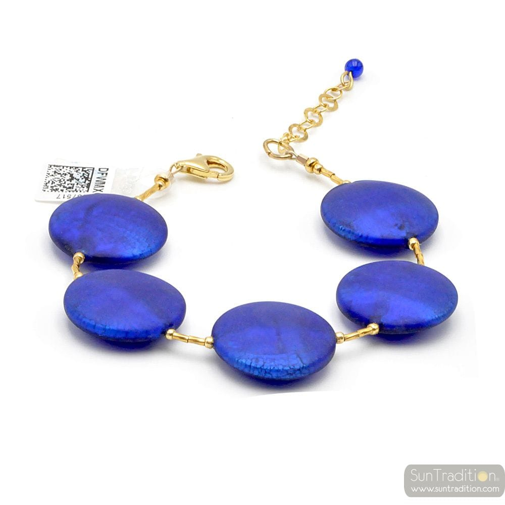 BLUE MURANO GLASS BRACELET