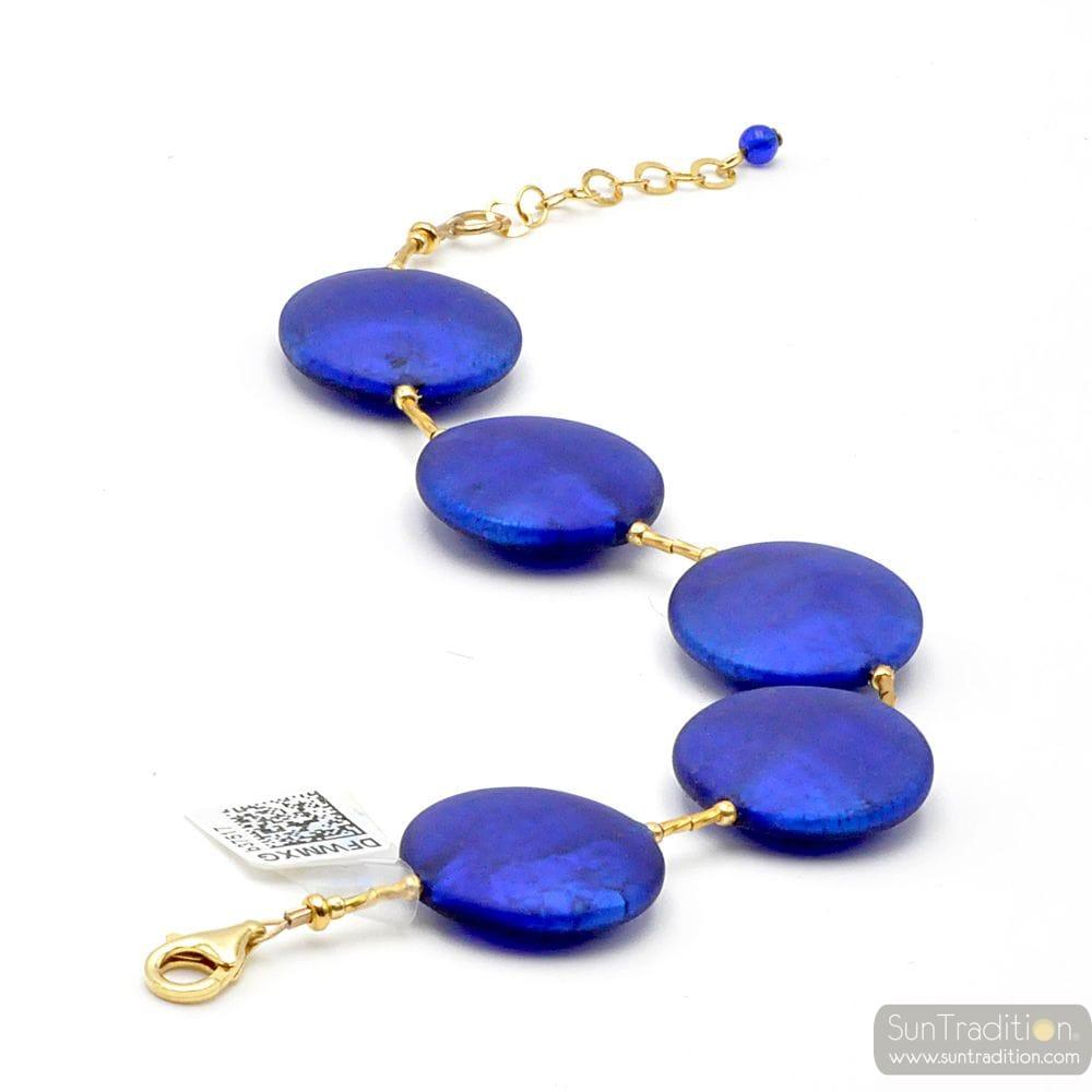 BLUE MURANO GLASS BRACELET JEWEL OF VENICE