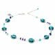 CHARLY LAPIS BLUE - BLUE MURANO GLASS NECKLACE GENUINE FROM VENICE