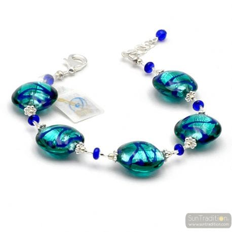 BLUE MURANO GLASS BRACELET FROM VENICE