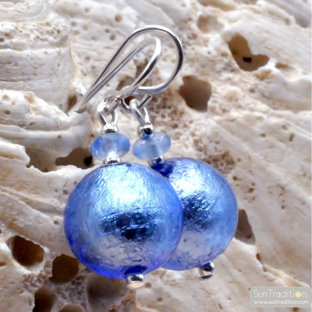 BLUE NAVY MURANO GLASS JEWELRY IN GENUINE FROM VENICE