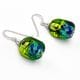 SASSO BICOLOR GREEN AND BLUE - GREEN AND BLUE MURANO GLASS EARRINGS