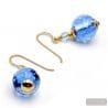 FIZZY BLUE - BLUE MURANO GLASS EARRINGS