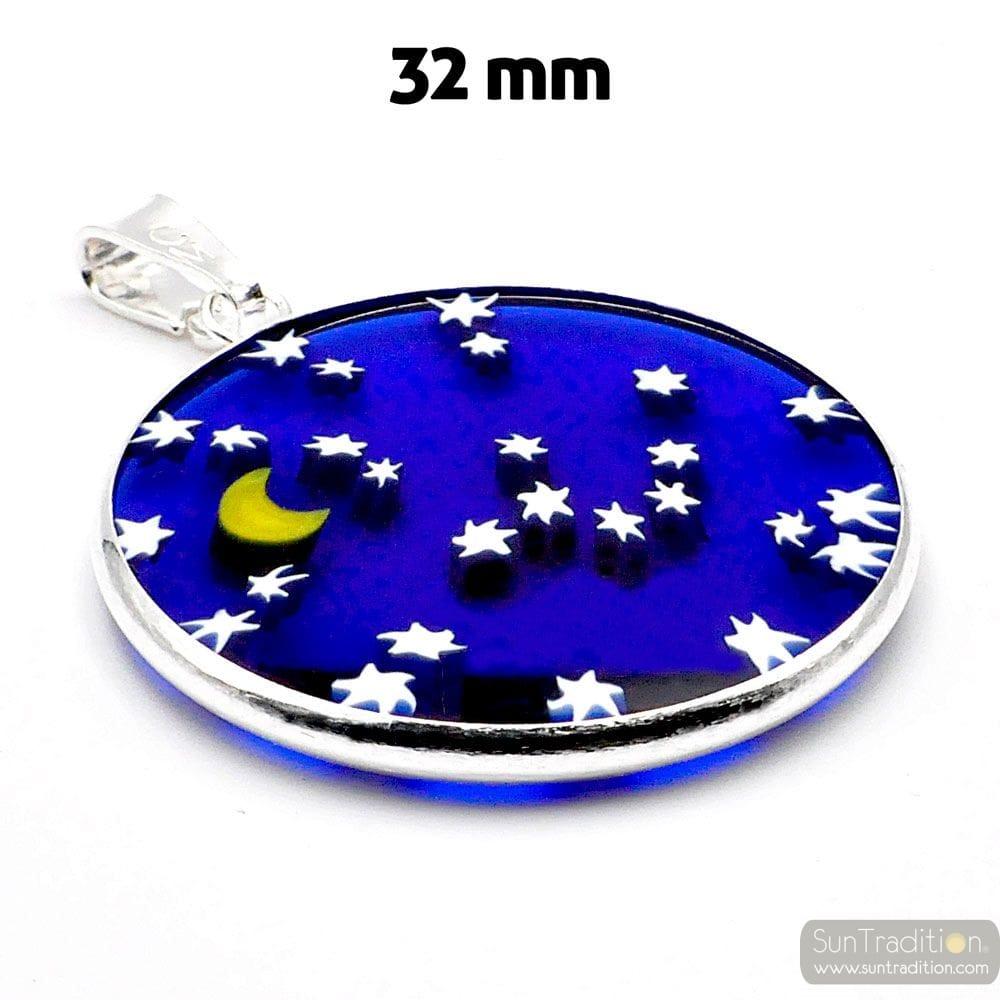 MEDAILLE VOOR MILLEFIORI HANGER STAR SKY BLUE