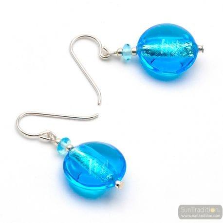 BLUE MURANO GLASS EARRINGS MURANO GLASS