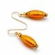 OLIVER AMBER - AMBER MURANO GLASS EARRINGS