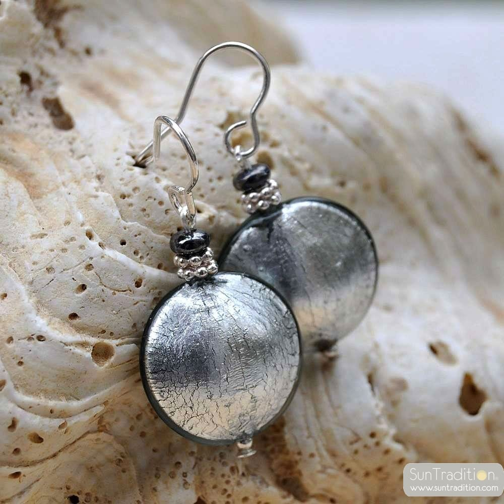 PASTIGLIA SILVER EARRINGS GENUINE MURANO GLASS VENICE