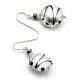 CHARLY SILVER - SILVER MURANO GLASS EARRINGS GENUINE MURANO GLASS VENICE