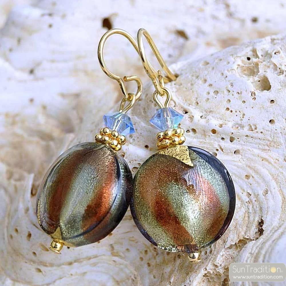 green murano glass jewelry earrings