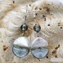 COLORADO SILVER EARRINGS GENUINE MURANO GLASS VENICE