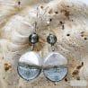 SILVER MURANO GLASS EARRINGS