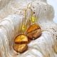 COLORADO GOLD - GOLD EARRINGS GENUINE MURANO GLASS VENICE