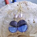 COLORADO BLUE EARRINGS GENUINE MURANO GLASS VENICE
