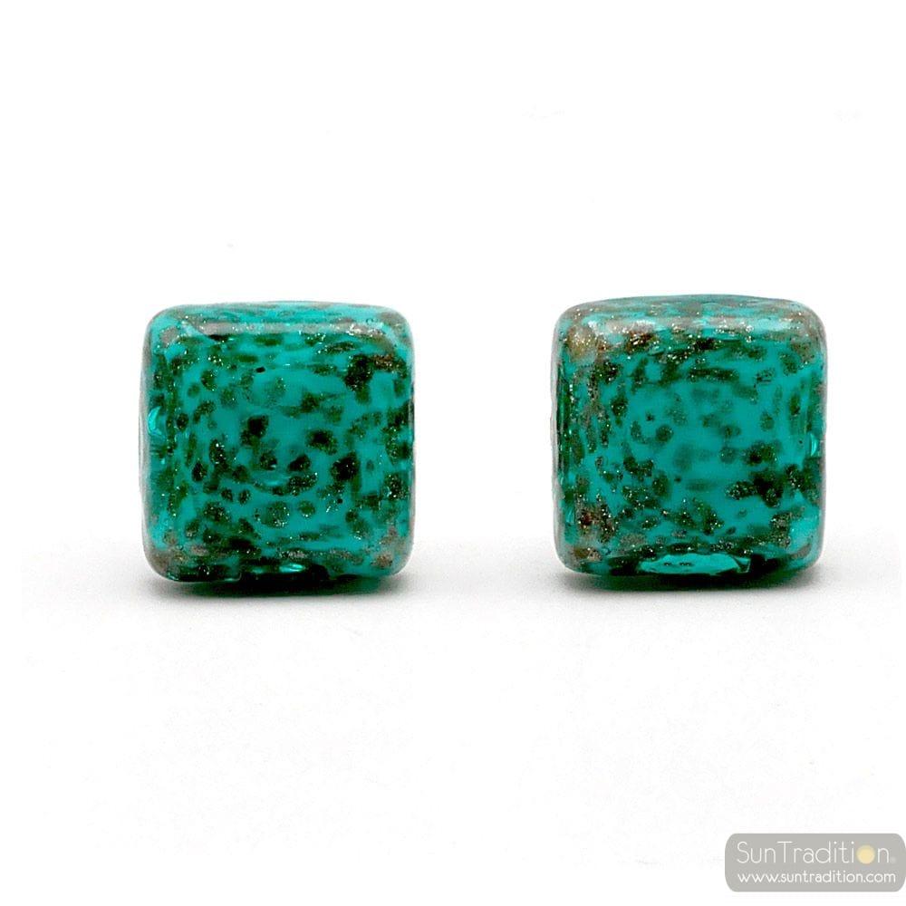 CUFFLINKS GREEN AVVENTURINE IN GENUINE MURANO GLASS FROM VENICE