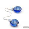 PASTIGLIA AURORA NAVY BLUE - BLUE MURANO GLASS EARRINGS JEWELRY IN GENUINE MURANO GLASS FROM VENICE