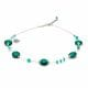 PASTIGLIA AURORA GREEN EMERALD - MURANO GLASS GREEN EMERALD NECKLACE OF VENICE