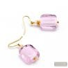 SCHISSA PASTEL PINK - ROSE MURANO GLASS EARRINGS JEWELLERY GENUINE VENICE GLASS