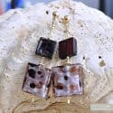 CORIANDOLO PARMA EARRINGS GENUINE VENICE MURANO GLASS
