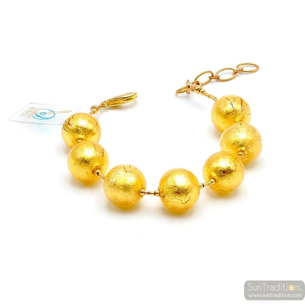 KUGEL GOLD MURANO GLAS ARMBAND