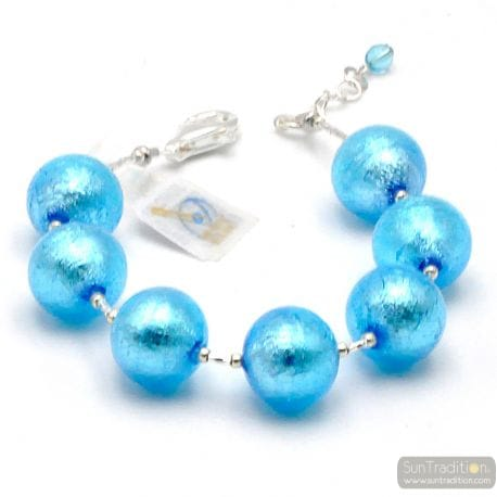 BLUE MURANO GLASS BRACELET OF MURANO IN VENICE
