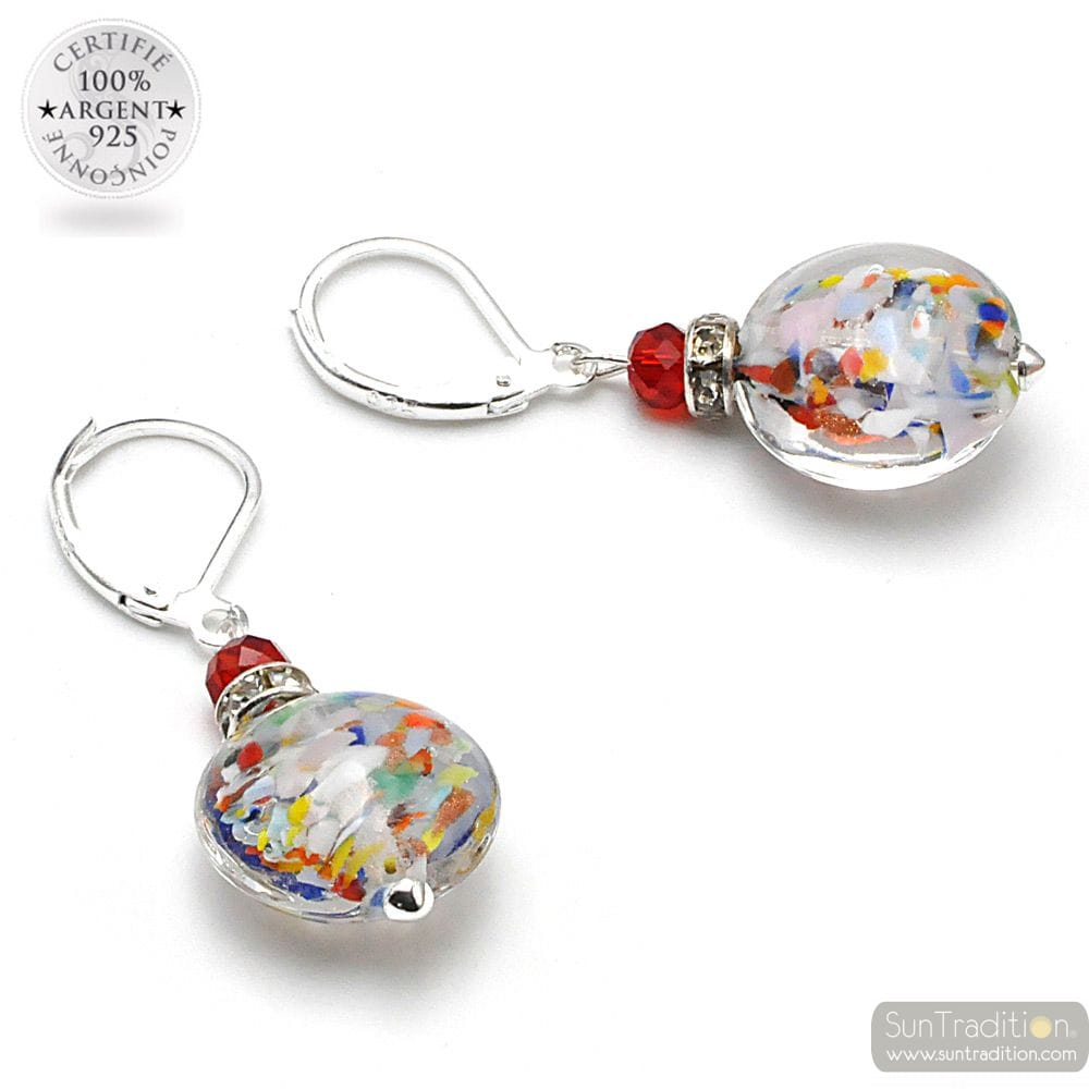 LEVERBACK MULTICOLOURED EARRINGS MURANO GLASS