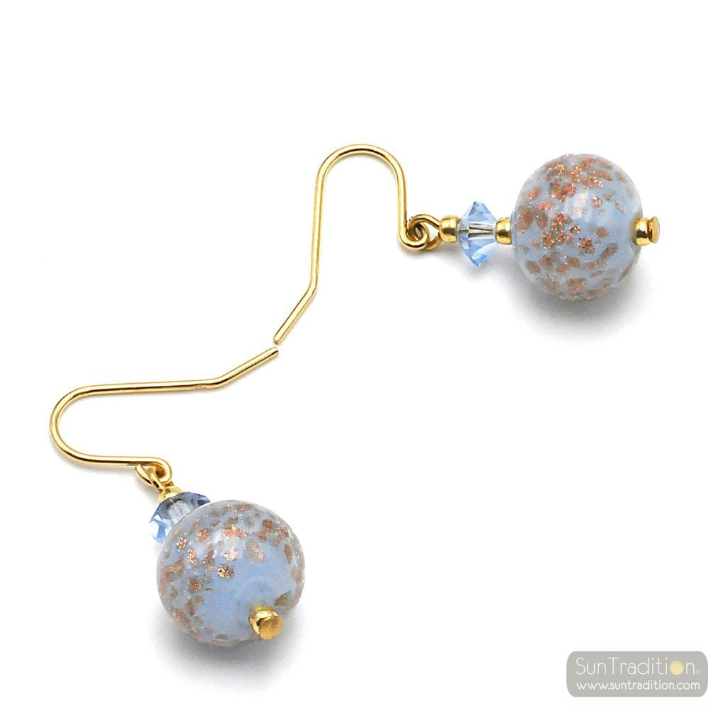 BLUE EARRINGS IN GENUINE MURANO GLASS FROM VENICE
