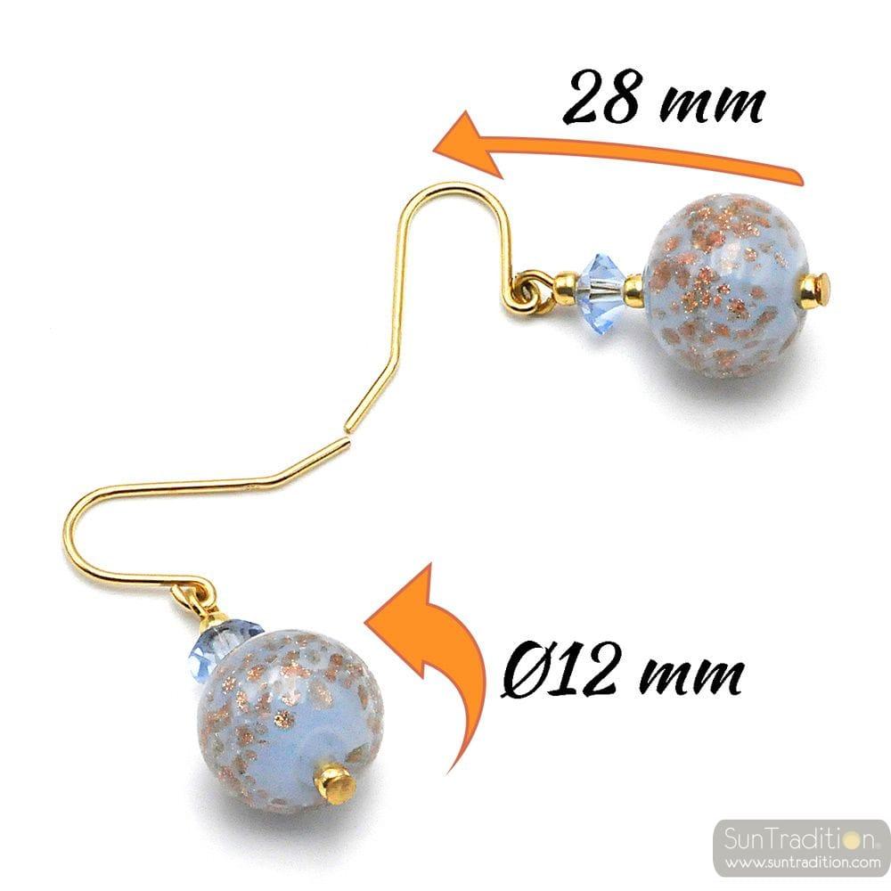 BLUE OPALINE - BLUE EARRINGS IN GENUINE MURANO GLASS FROM VENICE