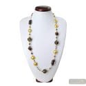 FENICIO OR LONG NECKLACE MURANO COLORFUL GLASS BROWN
