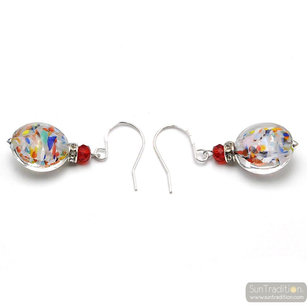 LEVERBACK MULTICOLOURED EARRINGS MURANO GLASS