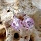GALAXY LILAC - LILAC EARRINGS GENUINE MURANO GLASS VENICE