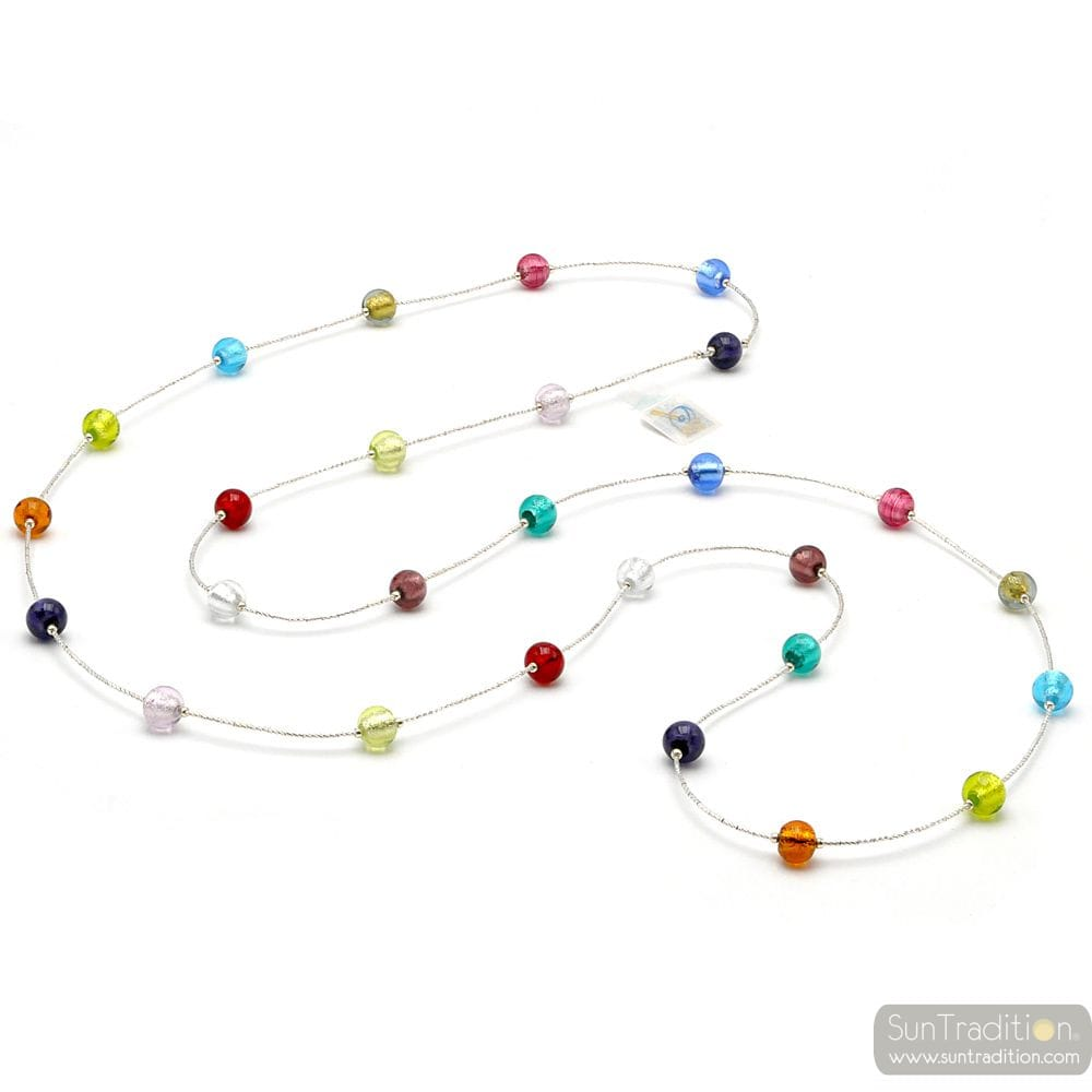 MULTICOLORED MURANO GLASS NECKLACE FROM VENICE