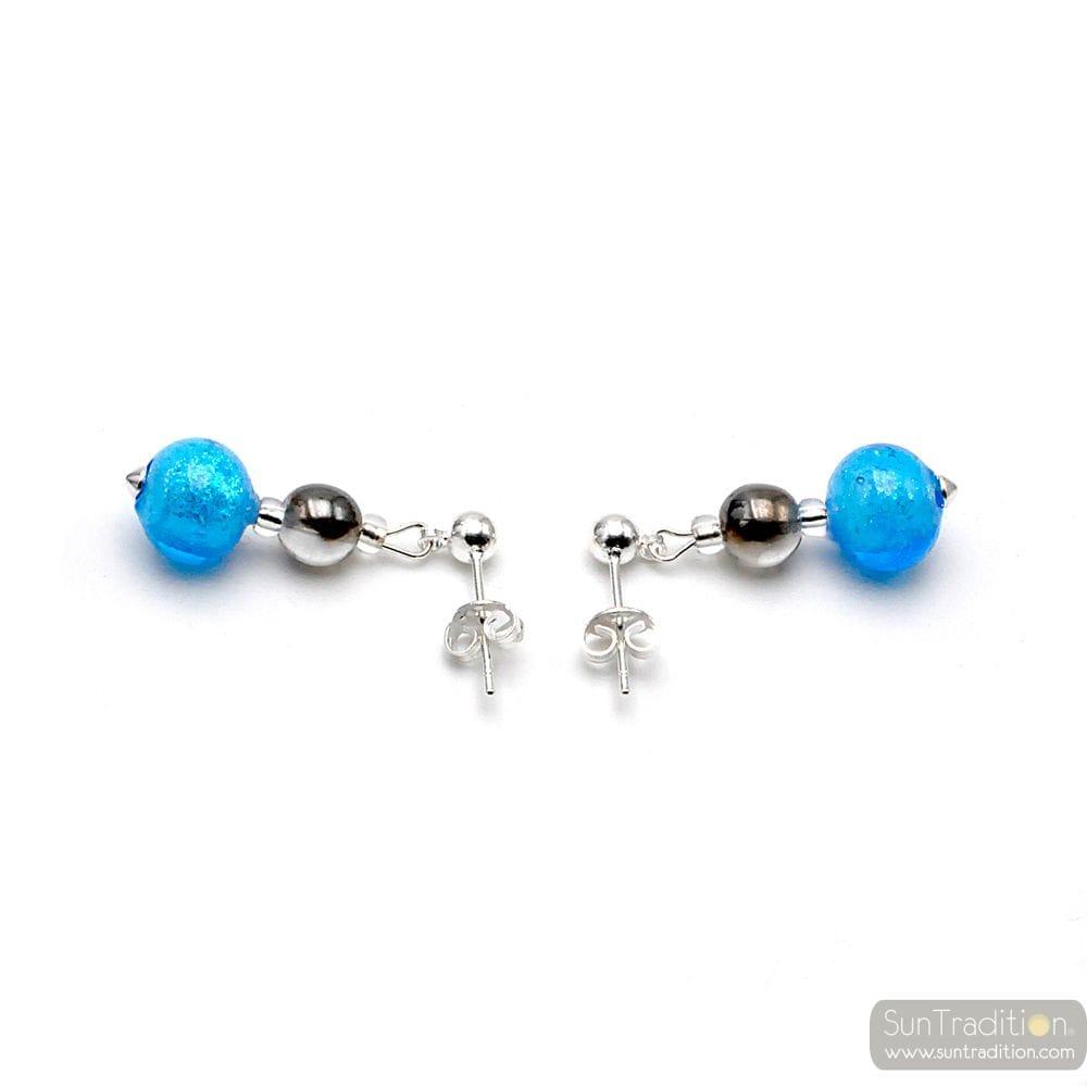 BLUE EARRINGS MURANO GLASS FROM VENICE