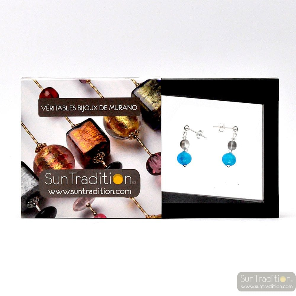 PIXIE BLUE - BLUE EARRINGS IN REAL MURANO GLASS FROM VENICE