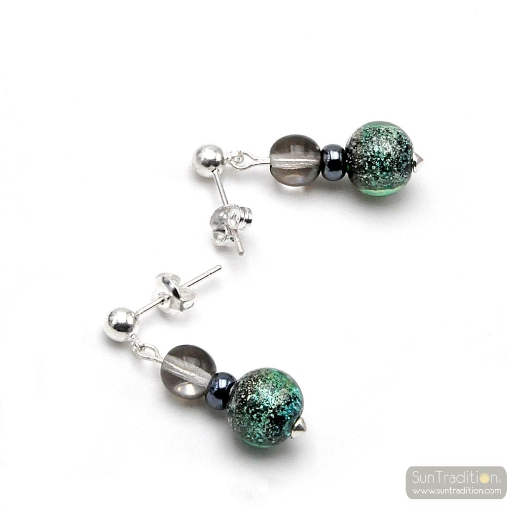 GREEN PIXIE - GREEN EARRINGS IN REAL MURANO GLASS FROM VENICE