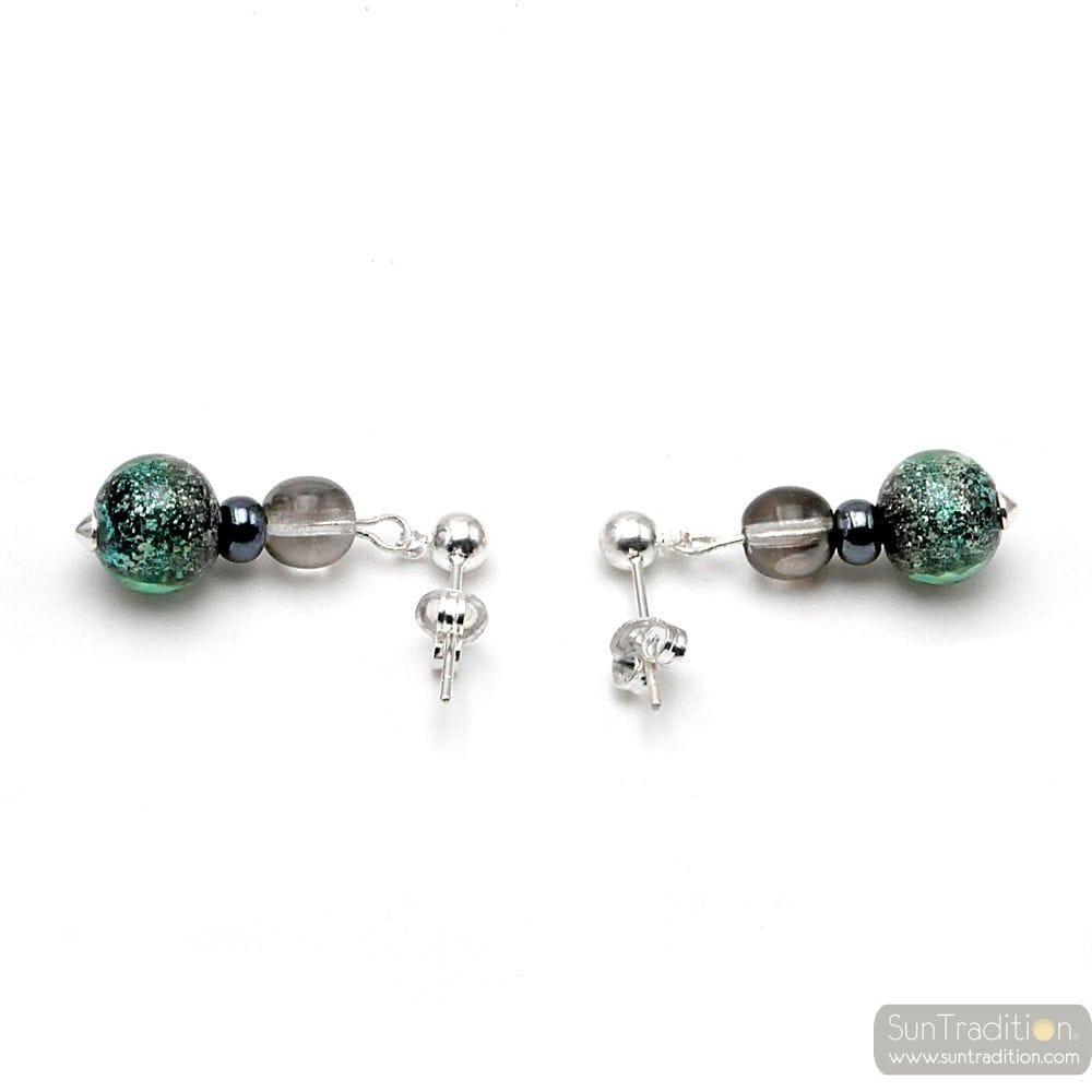 GREEN EARRINGS IN MURANO GLASS FROM VENICE