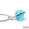 FIZZY AZUR BLUE GLASS PEARL PENDEL SILVER 925