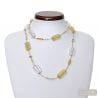 GOLD MURANO GLASS COLLAR