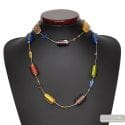 4 SEASONS SUMMER LONG NECKLACE GENUINE MURANO GLASS VENICE