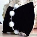 White chrystal ball - Genuine Murano glass bracelet