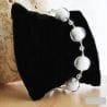 white murano glass jewelry bracelet