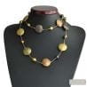 GOLD LONG MURANO GLASS NECKLACE IN VENICE MURANO GLASS