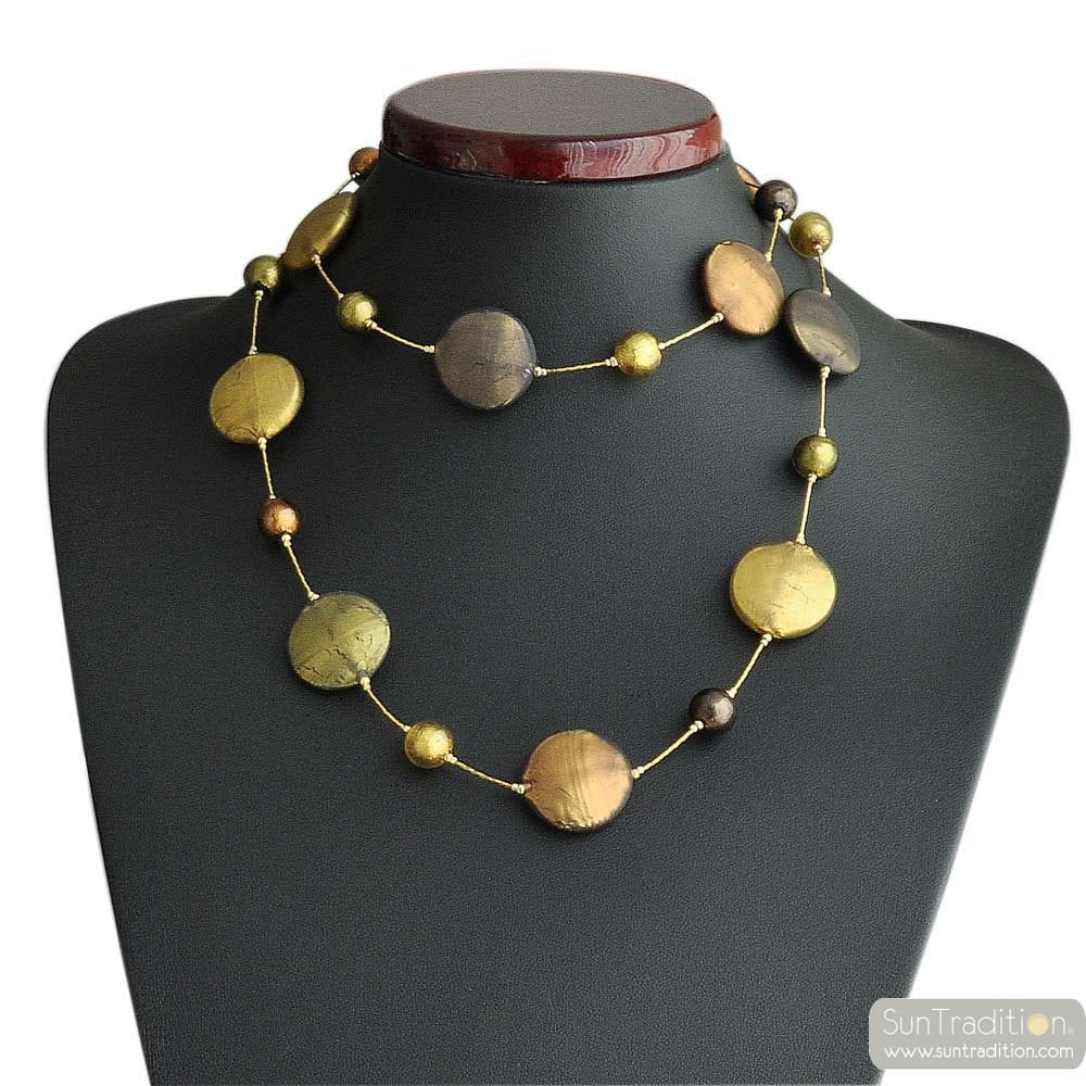 GLASS NECKLACE MURANO RO LONG