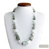 SILVER CUBES MURANO GLASS NECKLACE NECKLACE GLASS MURANO VENICE
